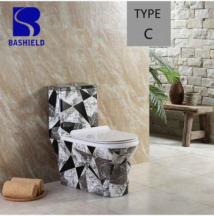 BM-3014A B C D E Factory price wholesale fancy toilet bathroom one piece toilet set