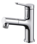 Bathroom Pull Out Wash Single Handle Hole Basin Faucet Taps