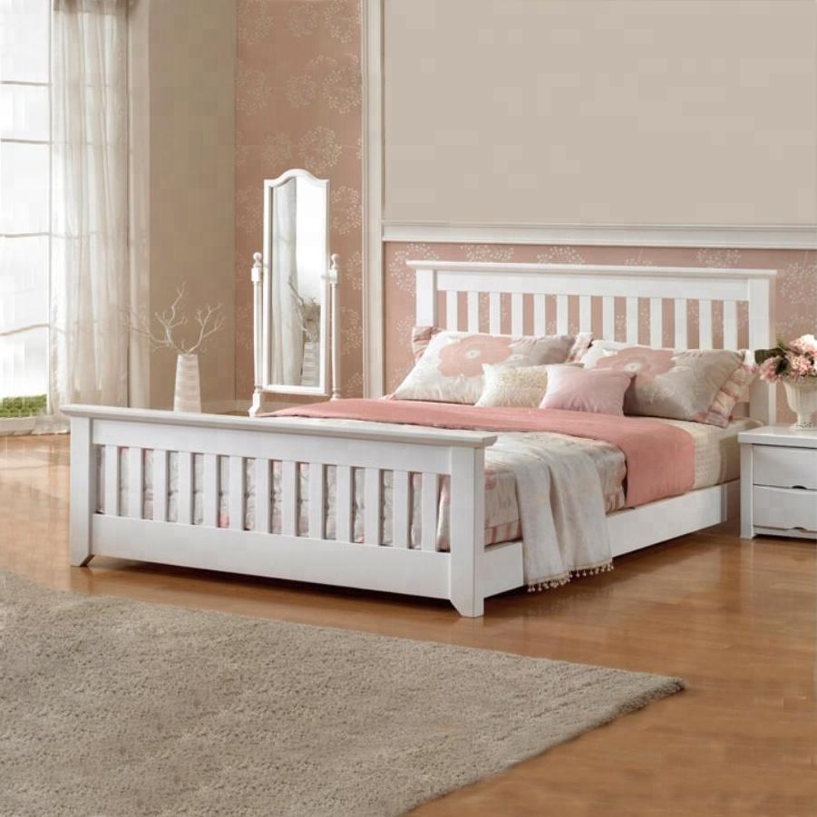 (WJZ-B95) pine wood modern adult single beds
