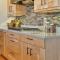antique solid wood framed natural wood finish shaker kitchen cabinet