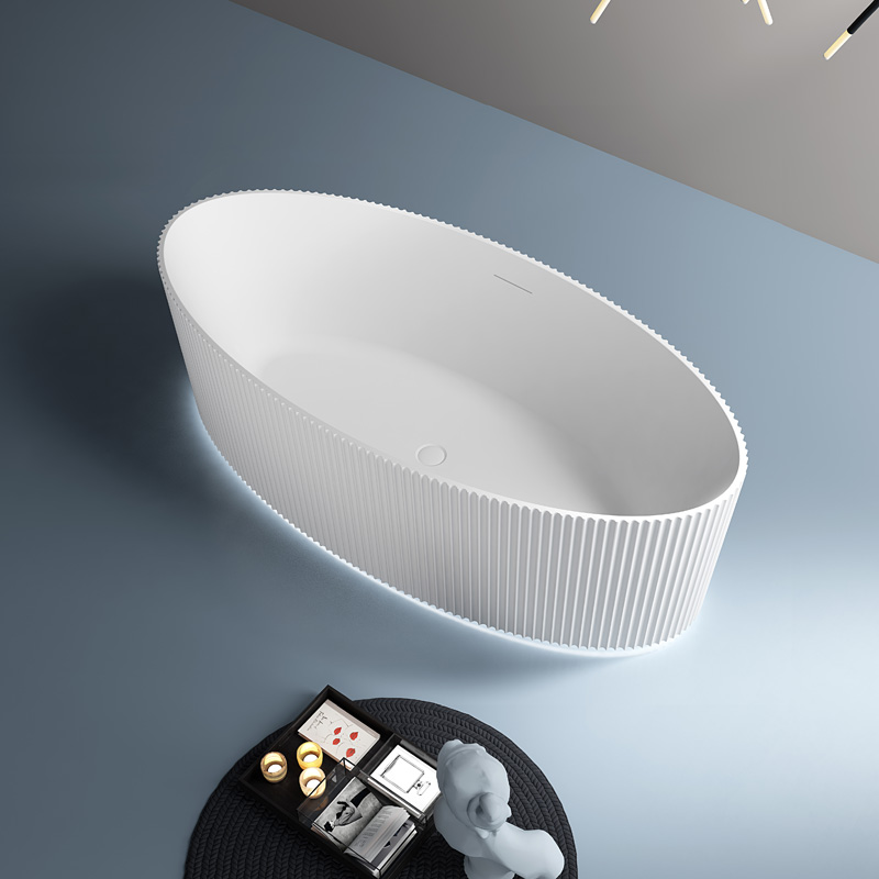Oval Freestanding Acrylic Bathtub With Lights TW-7687