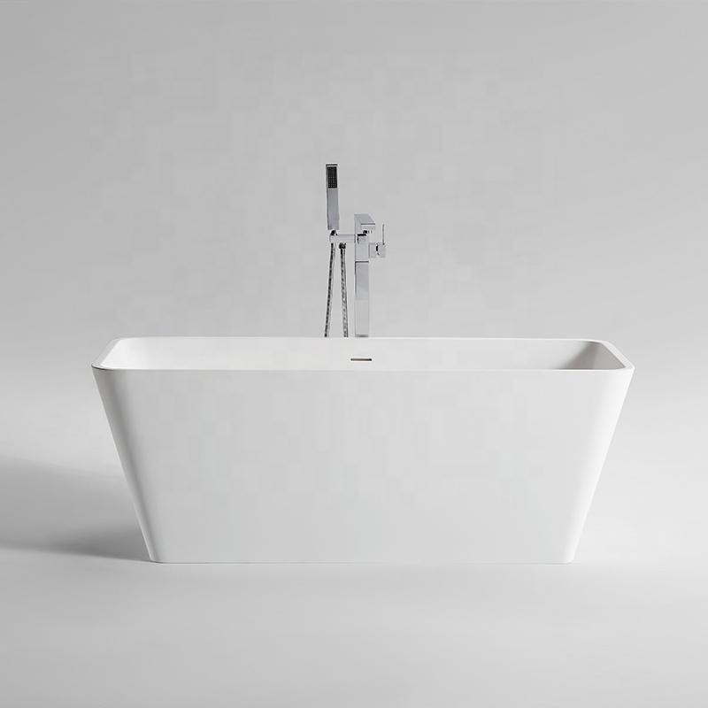 ARROW Modern Bathroom Tub Artificial Stone Resin Solid Surface Freestanding Bathtub