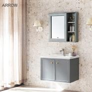 ARROW Furniture Small Single Hotel Vanity Storage Wall Hung Vanities Water Resistant Wood Waterproof Bathroom Wooden Cabinet