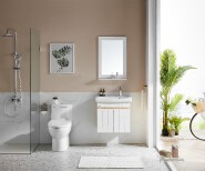 ARROW Brand High Quality Waterproof Wash Basin Luxury Vanity Space Aluminum White Bathroom Cabinet