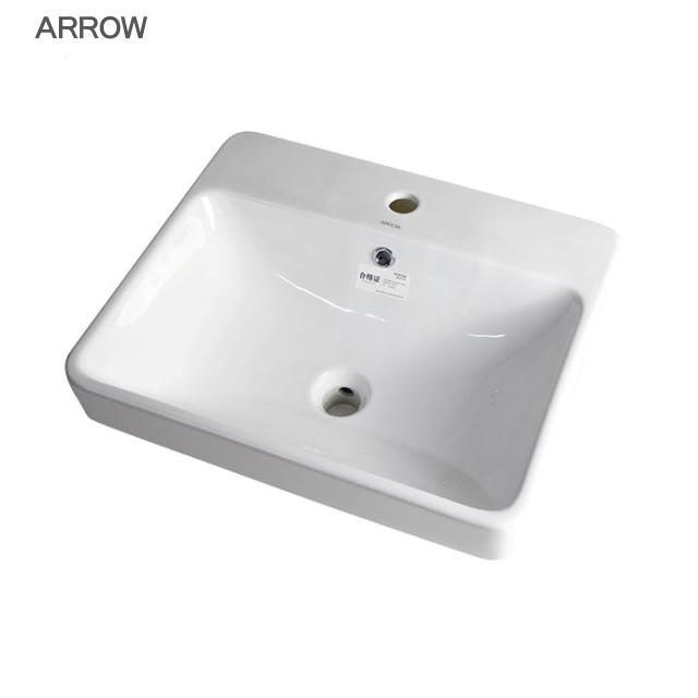 ARROW brand ceramic counter top public bathroom sink