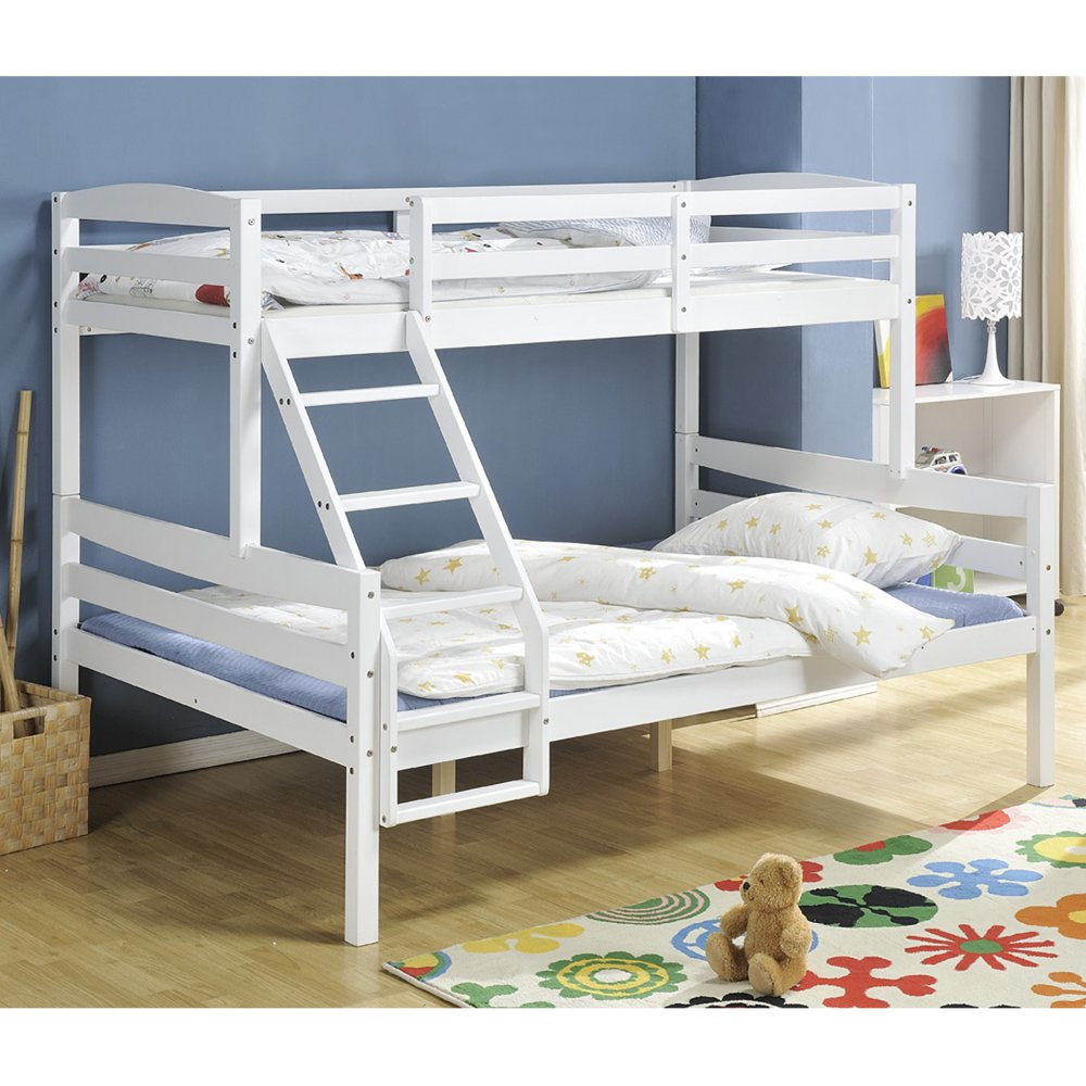 WJZ-B69 pine wood sofa bunk bed for three