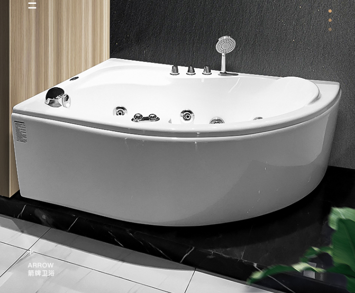 Spa Solid Surface Soaking Small Freestanding Bathroom Hydro Massage Hydromassage Bathtub