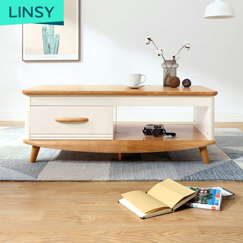 Living room simple nordic furniture solid wood leg coffee table