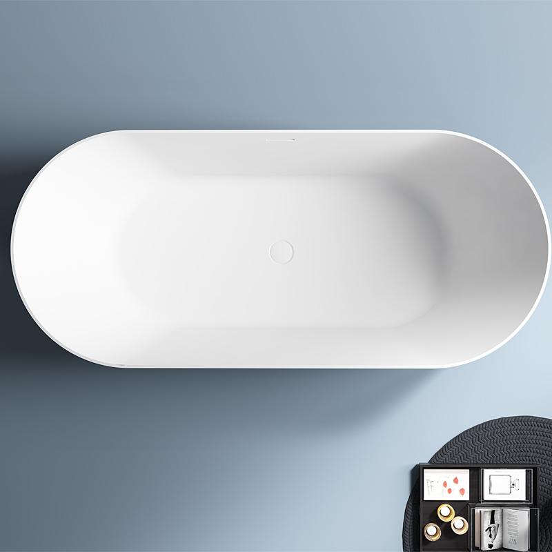 Best Quality White Oval Freestanding Acrylic Bathtub TW-7691