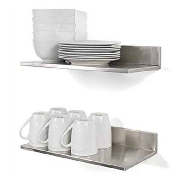 Heavy Duty Steel Hotel Kitchen Hanging Metal storage wall single shelf for restaurant kitchen