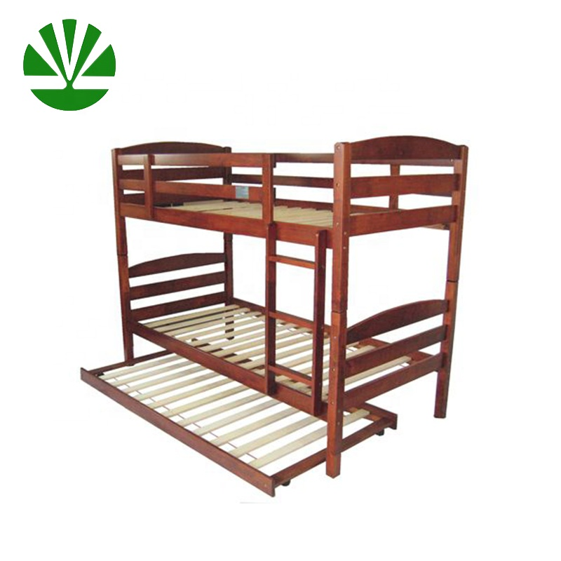 ( WJZ-B721 ) pine adult wood bunk bed with underbed
