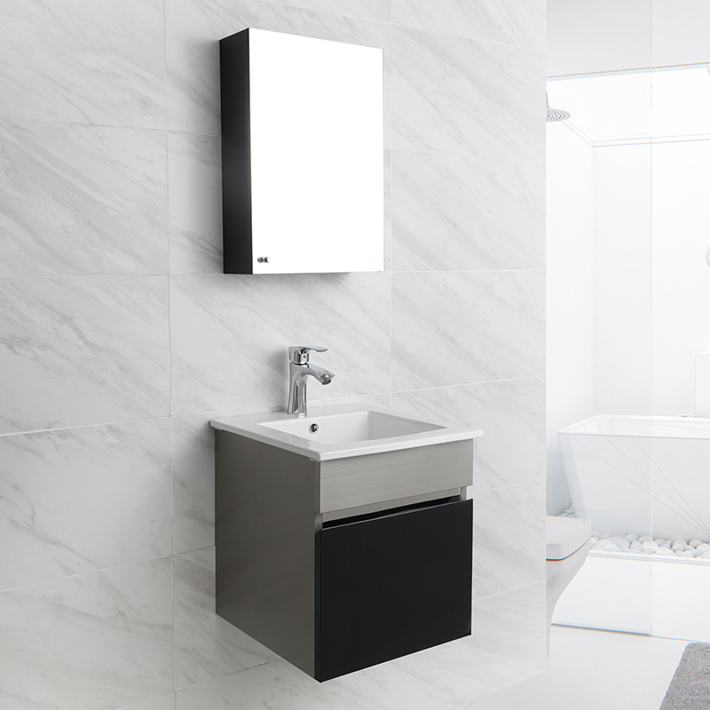 Modern Stainless Steel Bathroom Vanity Bathroom Cabinet for Hotel and Home T-120