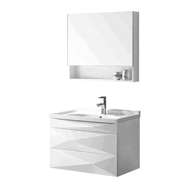 Flysnow mirrored PVC bathroom sink sets bathroom vanity philippines vanity cabinet