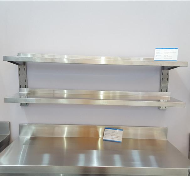Heavy duty Hotel Kitchen Restaurant Stainless Steel Board Style Wall Mounted Shelf
