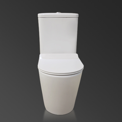 Australian Watermark Certificated Water Ratting Two Piece Wall Drain Rimless Toilet