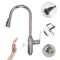 Touchless Sink Mixer Single Handle Pull Out Spray Sensor Kitchen Faucet