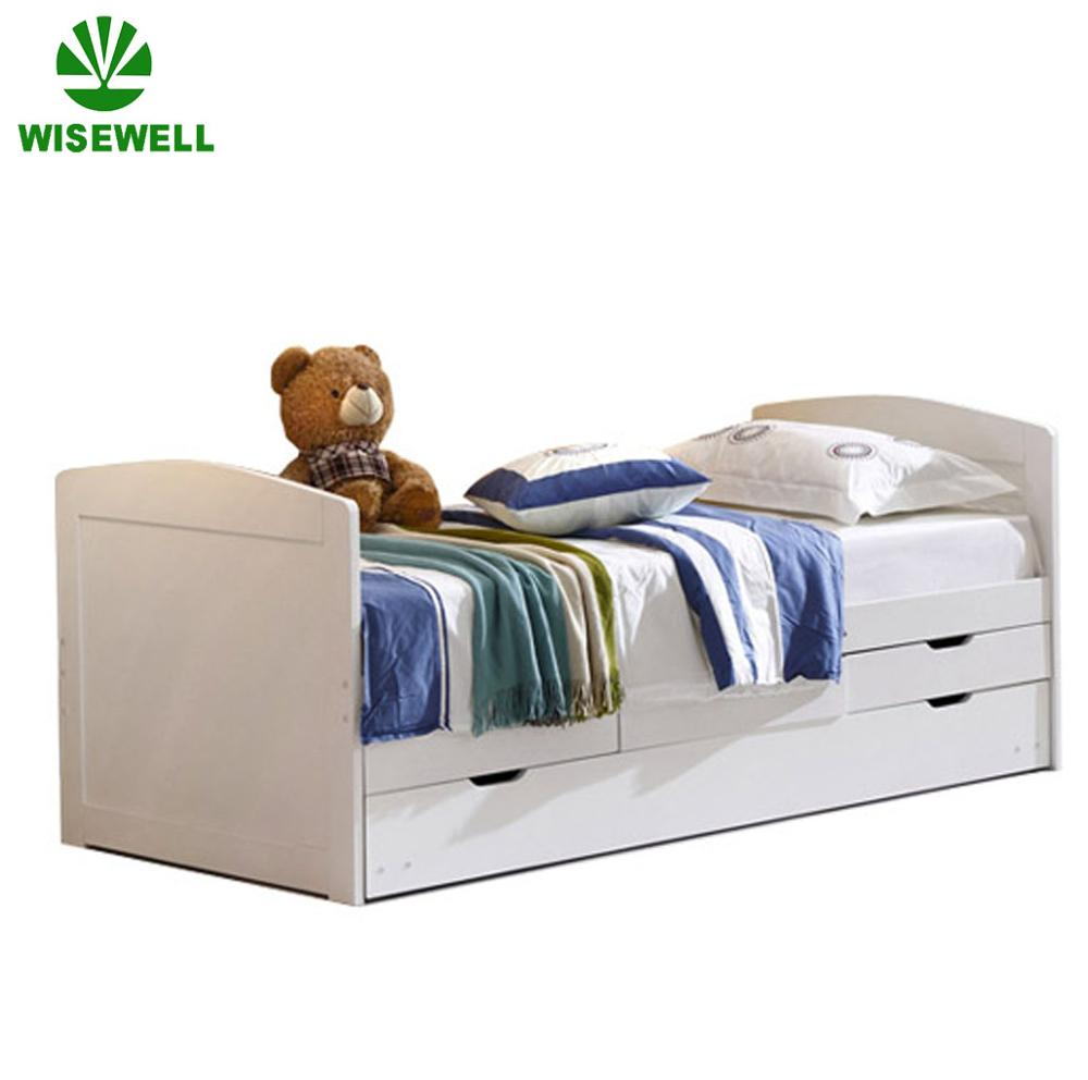 WJZ-B36 solid pine wood wholesale bed frame with drawers