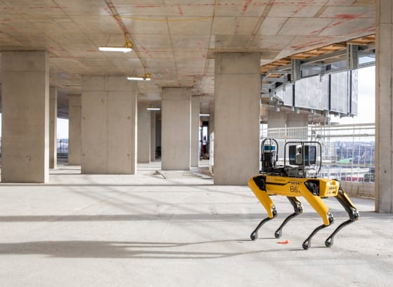 Boston Dynamics' four-legged robot has been gathering data at a major construction site in London