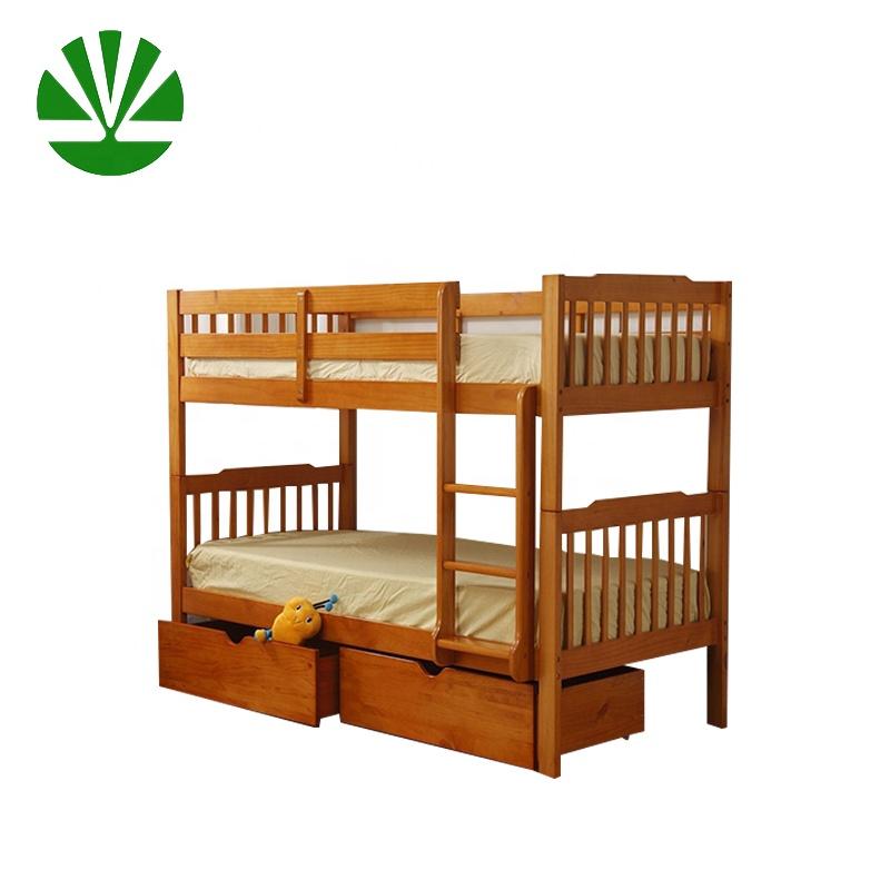high quality modern design wooden military children bunk bed