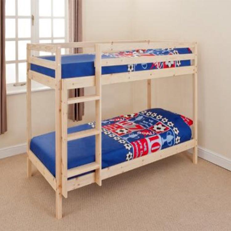 W-B-3508 natural pine wood cheap bunk bed frame