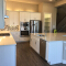 American style modern white/grey shaker solid wood kitchen cabinet