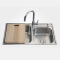 ARROW brand Foshan factory 304 stainless steel double bowl kitchen sink