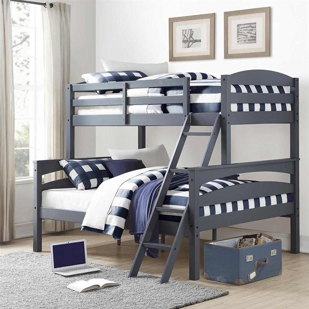 WJZ-A608 Twin over Full Solid Wood Kid's Bunk Bed with Ladder