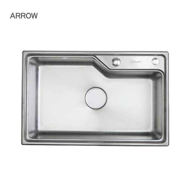 ARROW brand big single bowl sink kitchen 0.9mm foshan 304 steel undermount kitchen sink