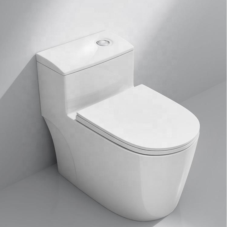 8.0 super large flushing pipe one piece eddy flushing toilet Bathroom Ceramic Siphonic Closet Toilet BM1088