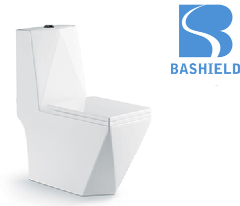 A-2859 High quality ,Ceramic toilet Wash Down One Piece diamond shape toilet