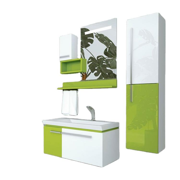 small colored bathroom basin cabinet