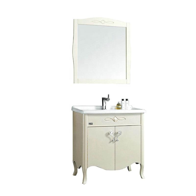 Flysnow PVC bathroom vanity cabinet