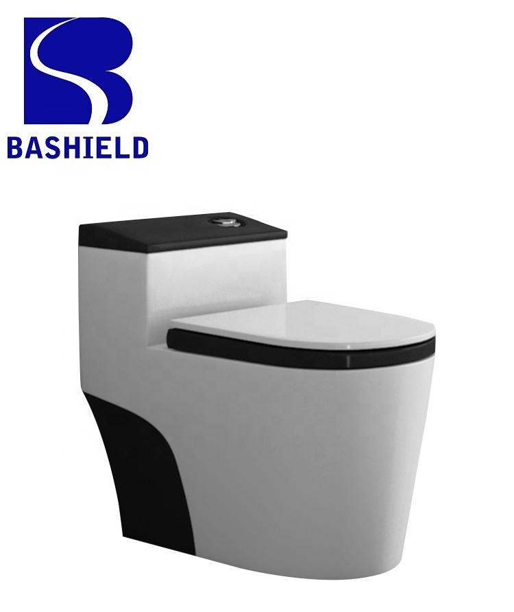 8.0 super large flushing pipe one piece eddy flushing toilet Bathroom Ceramic Siphonic Closet Toilet BM1088-B
