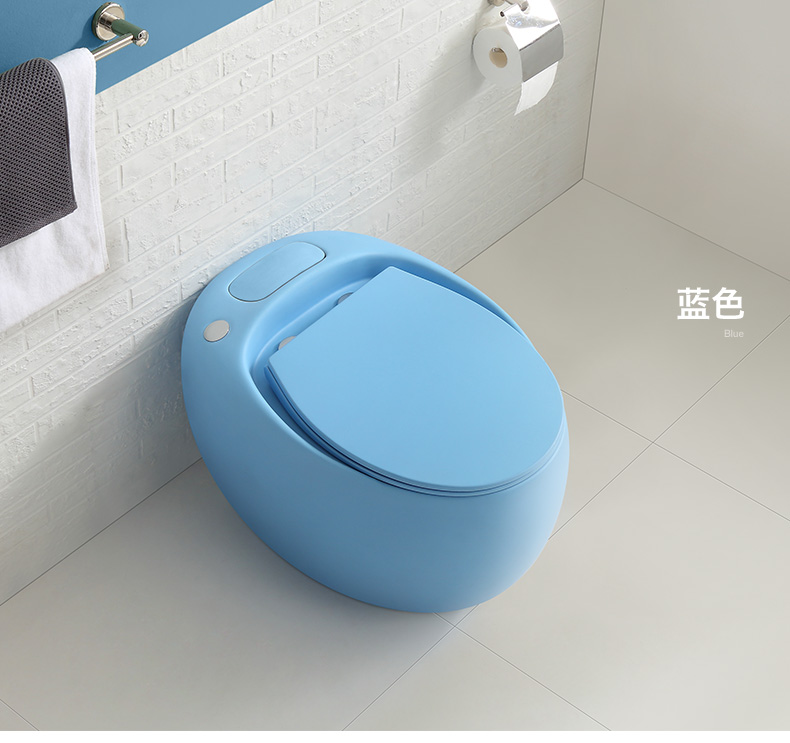 2020 Multiple Color Egg Shape Without Water Tank One-piece Bathroom Watercloset BM3007