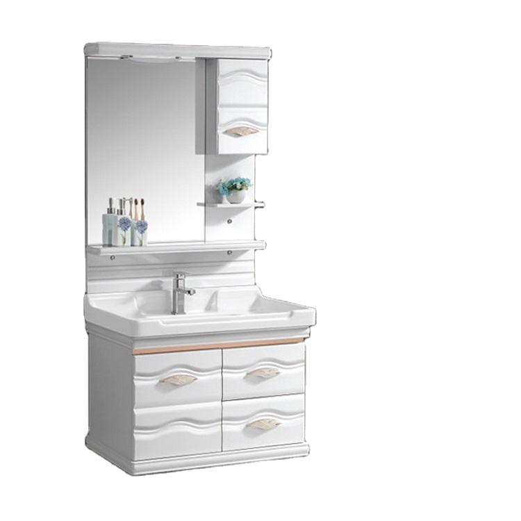 2020 Hangzhou Cheap Wall Mounted PVC Vanity Plastic Bathroom Cabinet