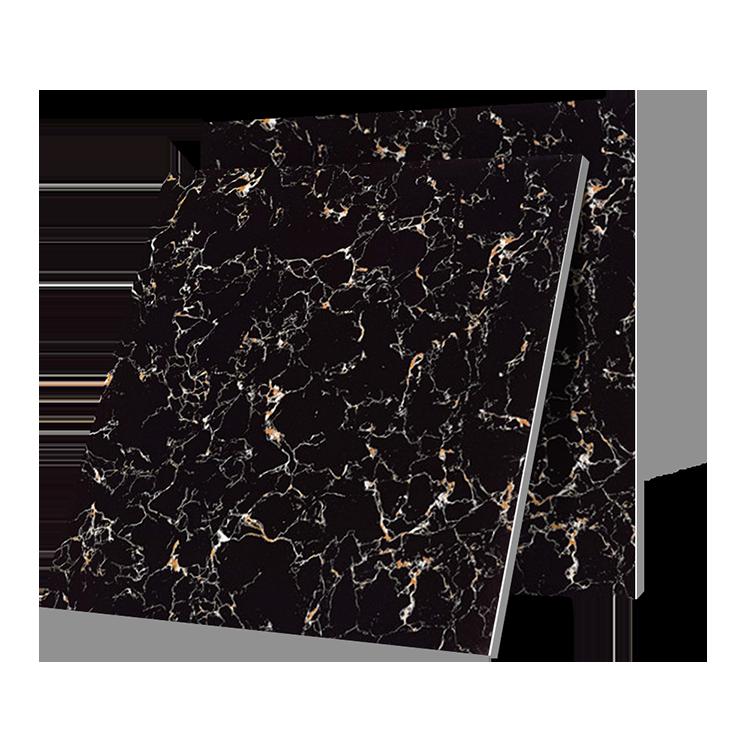 Wholesale Black Marble Design Glazed Polished Porcelain Floor Tile