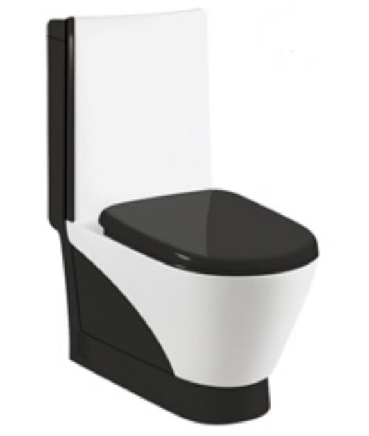 A-6862 Luxury ceramic bathroom sanitary ware black toilet Middle East toilet wash-down toilet
