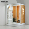 Luxury Top Cover Enclosed Portable Toilet Glass Door Steam Room Shower Cabin