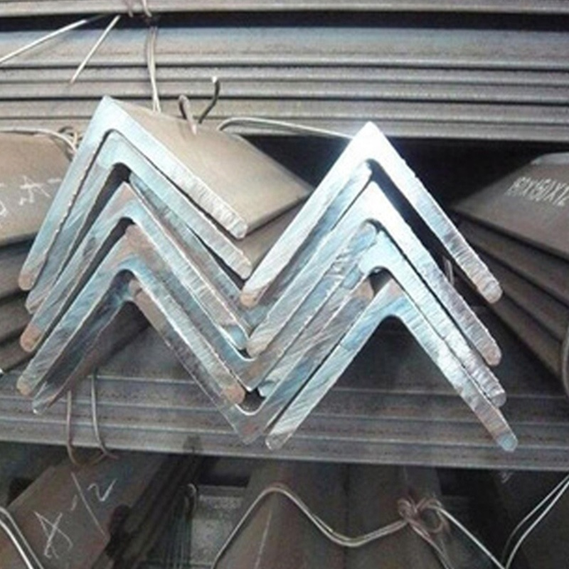 High quality construction hot dip steel solid angle iron bars standard length manufacturer