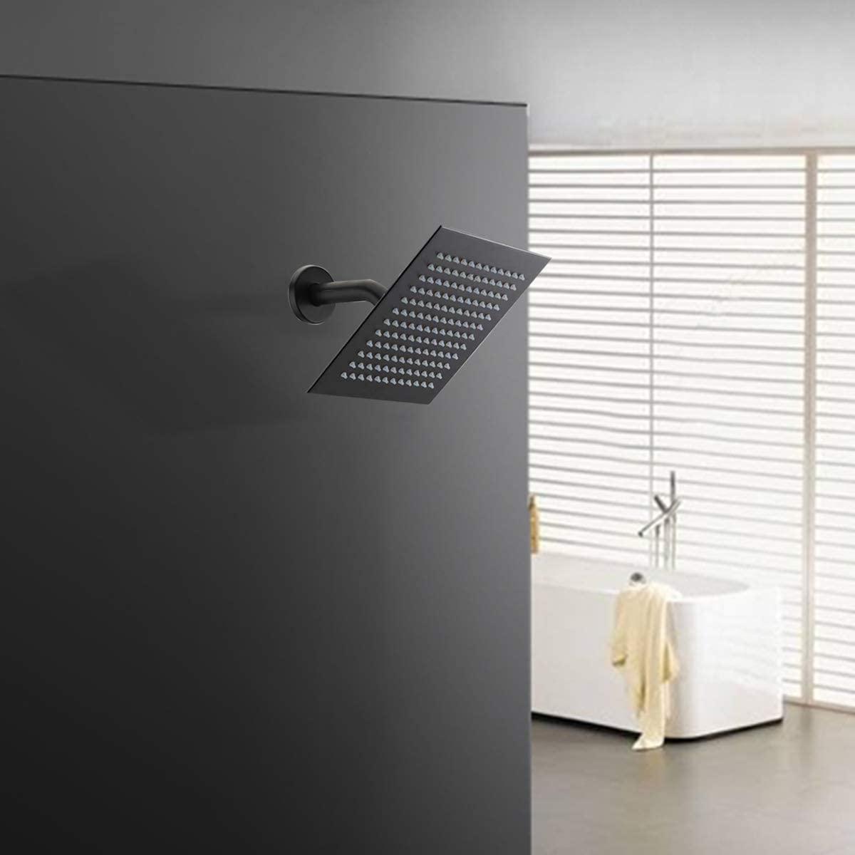 Black 10 inch shower head set stainless steel bathroom shower