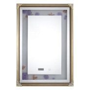 2020 new package frame bathroom led mirror smart touch with time temperature function