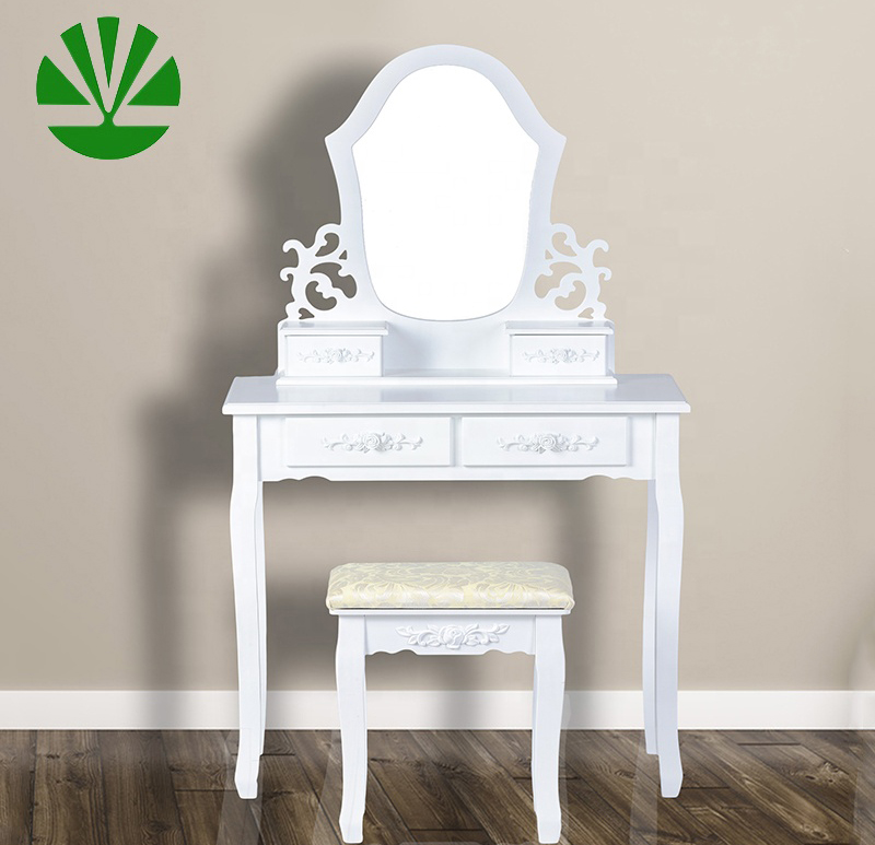 Factory produced best price wall mounted bedside customized dresser wood table