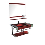 2020 Middle East popular red glass basin single hole faucet wall-mounted glass basin