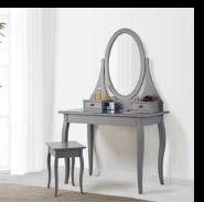 W-HY-0102 Best Selling mirrored Grey dresser Wooden vanity dressing table
