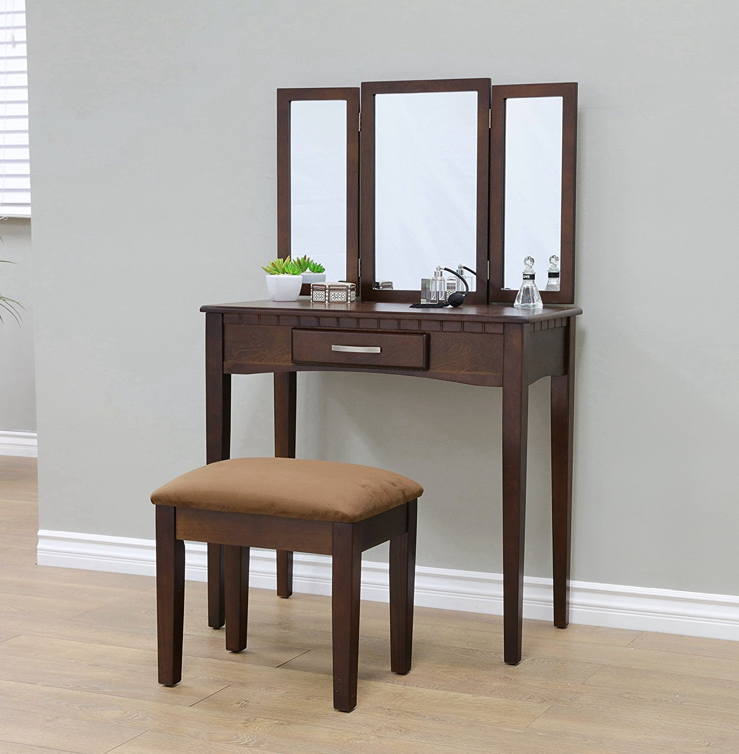 W-HY-0613 French style Home Furnishing Stool Set and Vanity dressing table