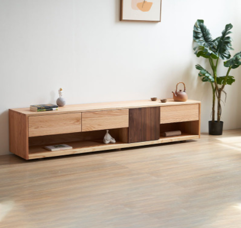 Nordic type sitting room furniture tea table TV cabinet red oak solid wood modern simple small family TV cabinetNordic type sitting room furniture tea table TV cabinet red oak solid wood modern simple