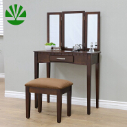 W-HY-087 white wardrobes with dressing table