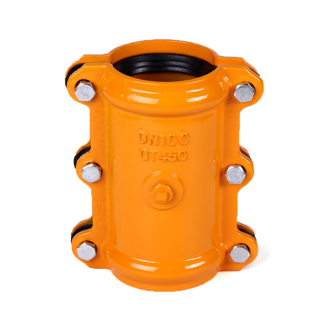 Customized Pipeline Connectors Ductile Cast Iron Steel Leak Pipe Fittings Repairing Clamp Hough Section