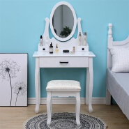 modern women room white white dressing table with drawers with led light