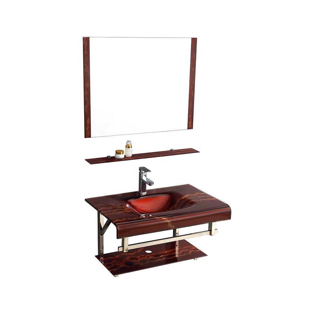 New design Modern hand wash glass basin under mount bathroom sink toilet basin